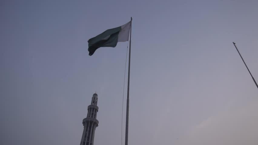 Pakistan Flag waving in slow motion