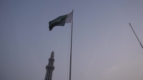 Pakistan Flag waving in slow motion