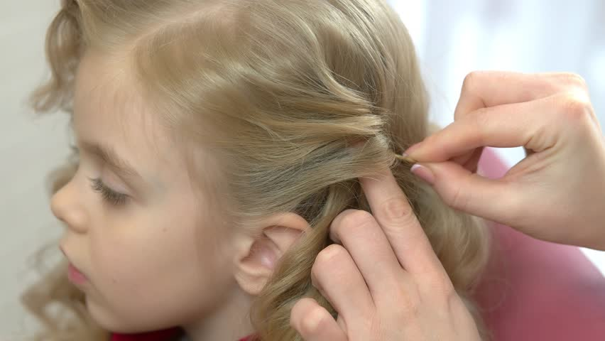 Weaving Of Hair On The Stock Footage Video 100 Royalty Free