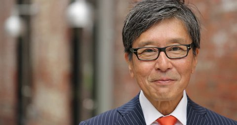 Asian businessman smile face portrait