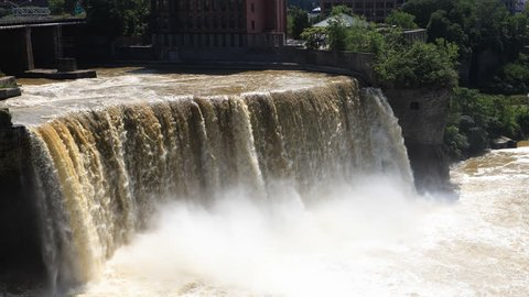4K UltraHD Timelapse of the High Falls in the city of Rochester, New York