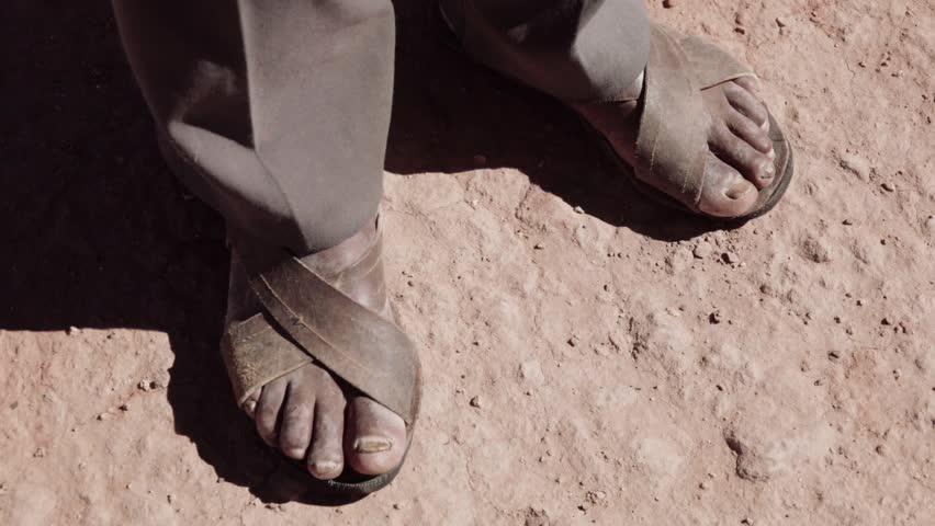 d1ae5310da0 Indigenous Man Using Artisan Sandals