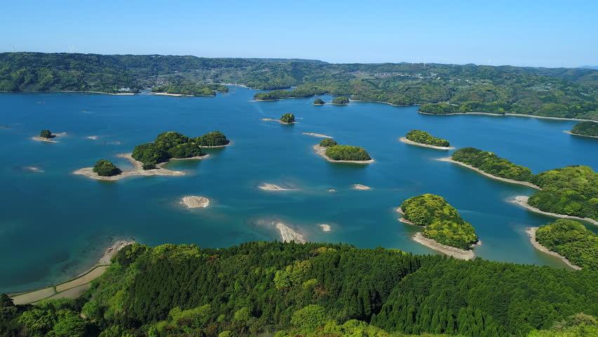 Landscape of Iroha islands in Japan