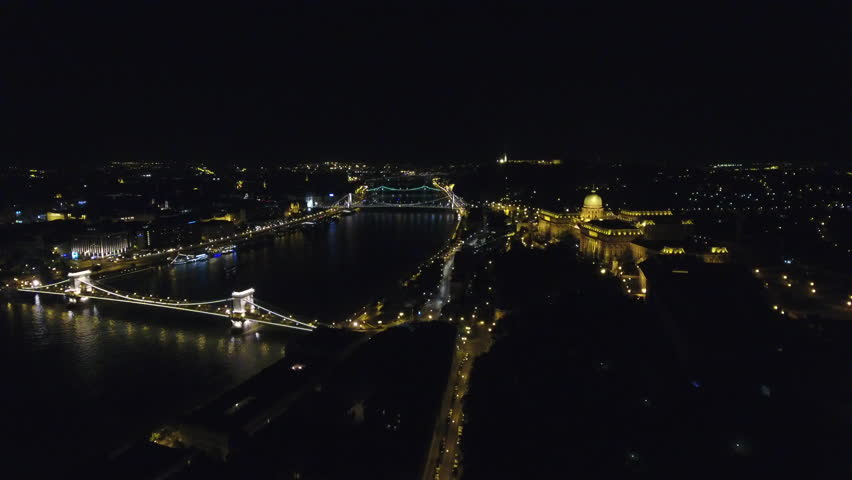 Budapest night aerial landscape, Budapest, Hungary | Shutterstock HD Video #29505049