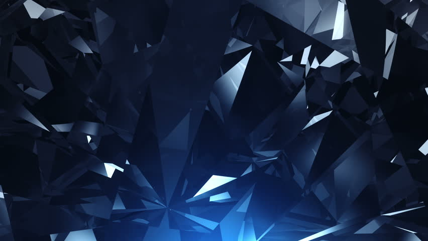 Blue facet background animation - loopable