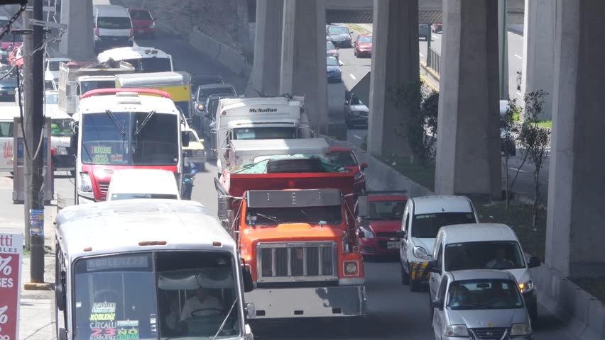 CDMX Mexico CITY - CIRCA June 2016 :Cars passing by in Periferico and Rio San Joaquin a very bussy urban higway street | Shutterstock HD Video #29526949