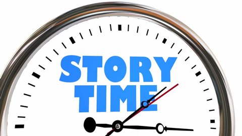 Story Time Storytelling Narrative Clock Hands Ticking 3d Animation