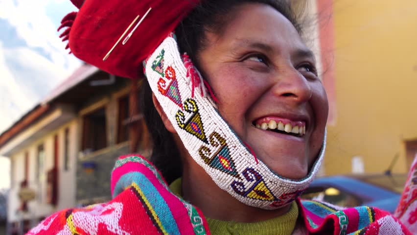 Traditional Peruvian woman in Ollantaytambo, Peru | Shutterstock HD Video #29549119
