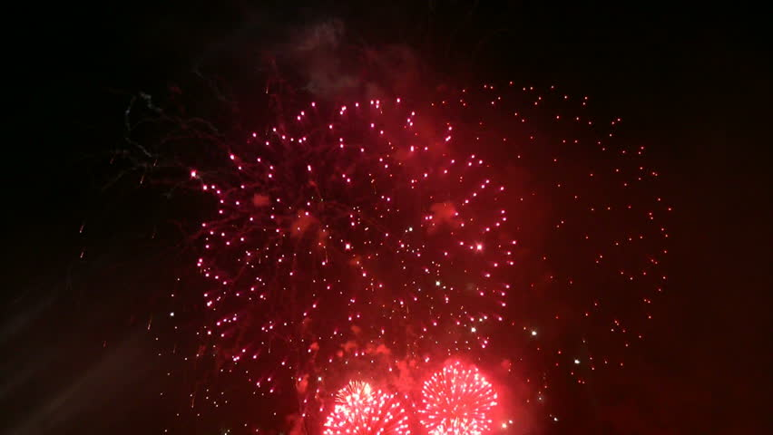 Firework exploding in the sky. | Shutterstock HD Video #2956009