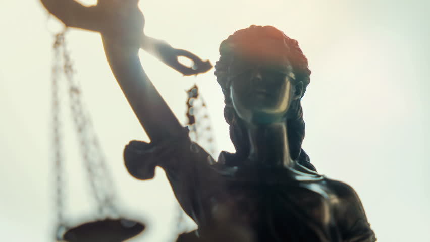 The Statue of Justice - lady justice or Iustitia the Roman goddess of Justice | Shutterstock HD Video #29562259