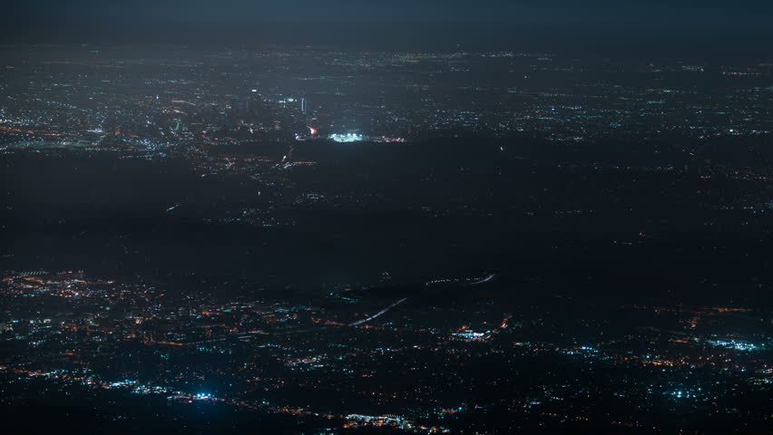 LA Night Cityscape Aerial 31 Clouds Time Lapse  | Shutterstock HD Video #29605009
