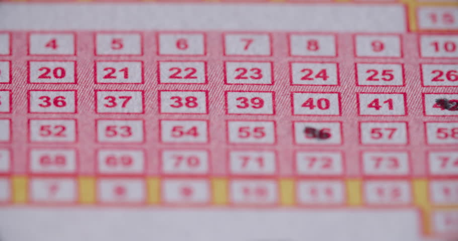 Lotto Ticket Pencil in Numbers Stock Footage Video (100% Royalty-free)  29620189 | Shutterstock