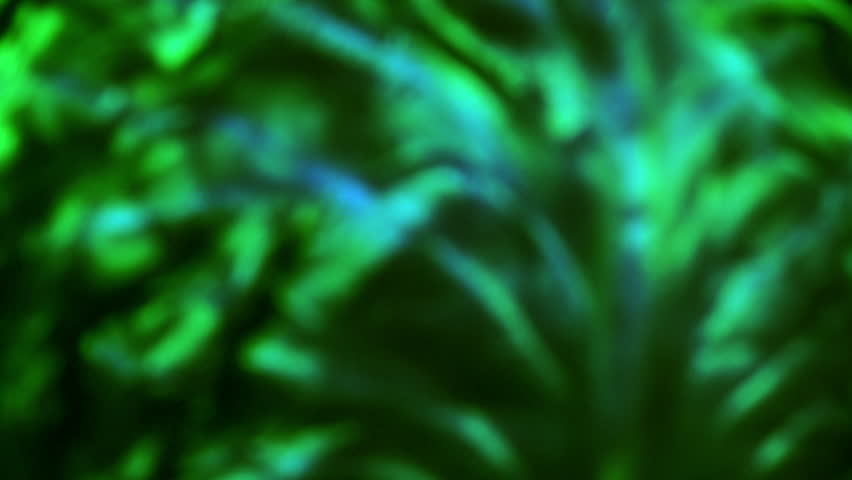 Amazing abstract background with fluorescent green colors, moving to the right. Vibrant plump defocused texture, rotating contra clockwise in 4k, 3840x2160, clip.  #29743570