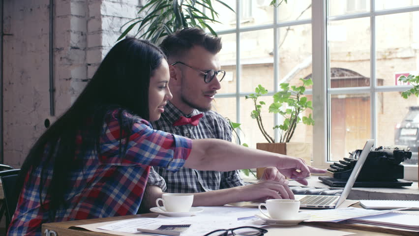 Young designers with laptop | Shutterstock HD Video #29769349
