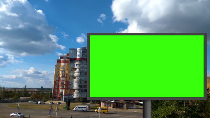 billboard with a green screen #29771029