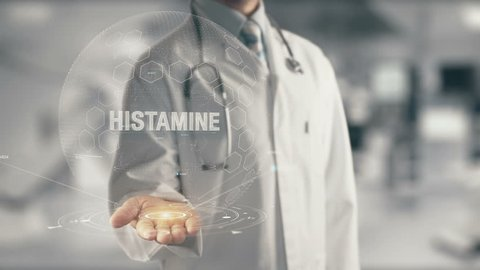 Doctor holding in hand Histamine 1