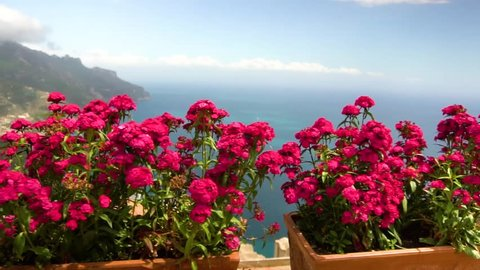 beautiful view in Ravello, southern Italy