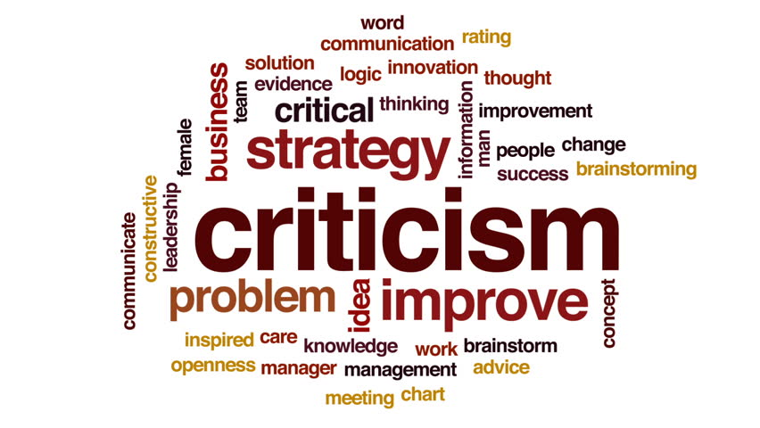 Header of criticism