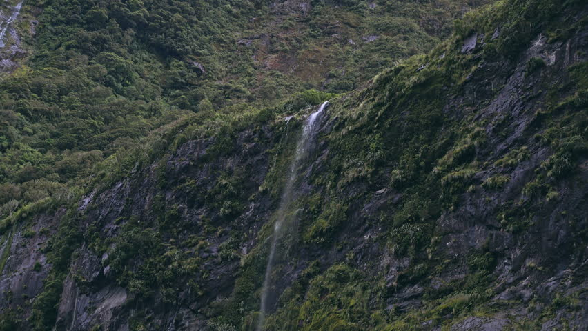 Stirling Waterfalls, Milford Sound, Fiordland, South Island of New Zealand | Shutterstock HD Video #29866231