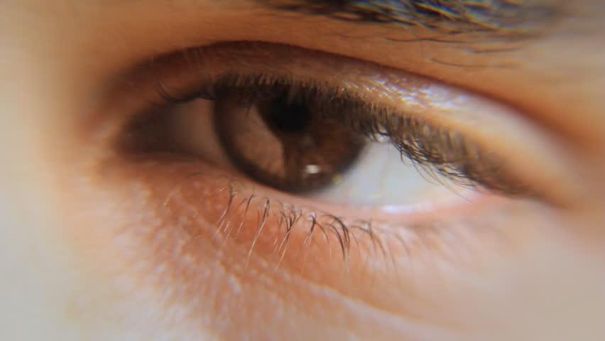 489f92910ed Eye Male 2 Sleepy. Close-up Stock Footage Video (100% Royalty-free ...