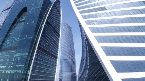 Windows of glass towers