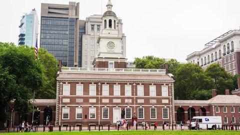 Independence Hall, Philadelphia, Pennsylvania, Hyperlapse Timelapse Video