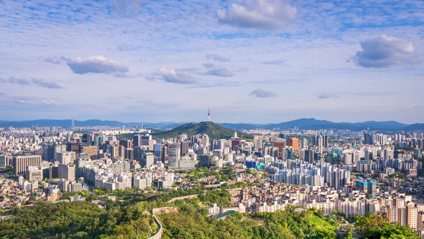 Timelapse of Seoul City ,South Korea.Zoom in | Shutterstock HD Video #30120259