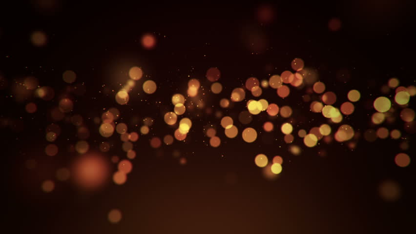 Abstract background with beautiful flickering particles as bokeh light. Underwater bubbles in flow. Animation of seamless loop.