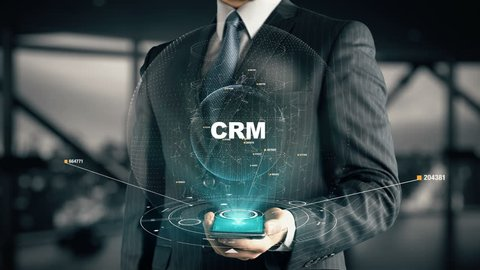 Businessman with CRM