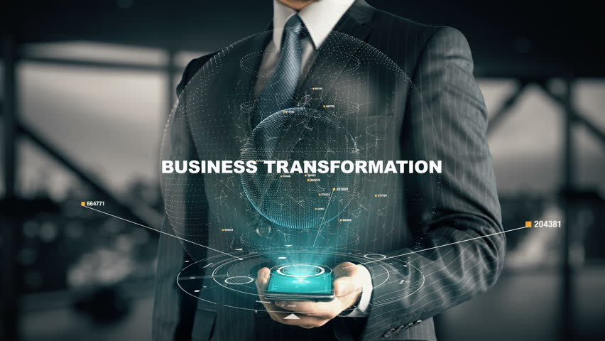 Businessman with Business Transformation