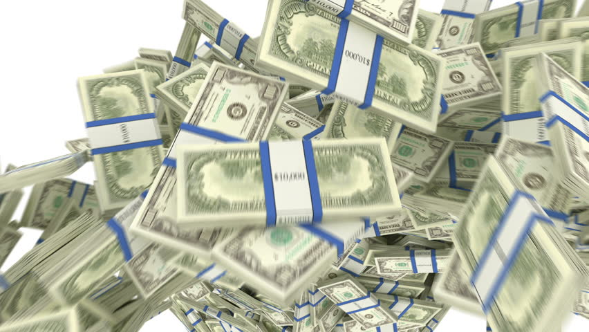 Y-shaped US dollar bundles flow with slow motion. alpha. 3d render, 3d animation | Shutterstock HD Video #30173929