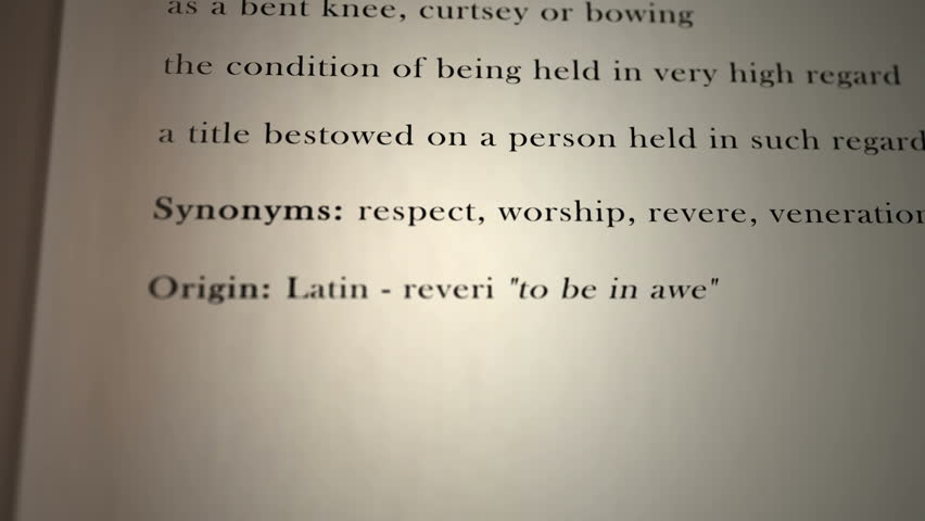 Reverence Definition