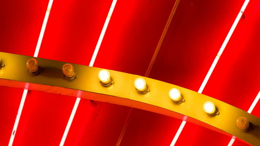 Close Up Neon Tubes and Bulbs Blinking. detail of a Las Vegas Casino neon lights and blinking bulbs  | Shutterstock HD Video #30282439