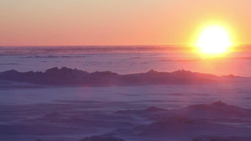Arctic Alaska Storm Twilight, Sea Ice Sheet