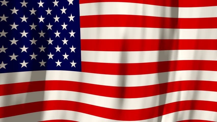 Looping American Flag Background