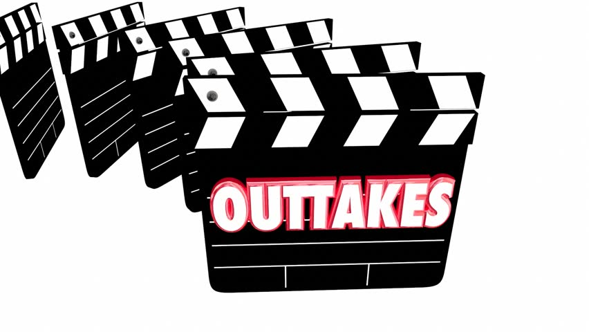 Outtakes Mistakes Bloopers Movie Film Video Clapper Boards 3d Animation