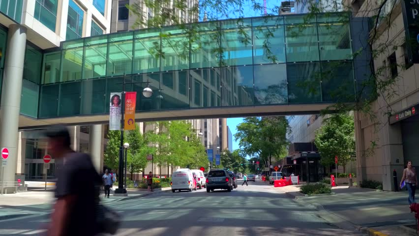 CHICAGO, IL, USA - AUGUST 7, 2016: Huron Street Chicago motion footage | Shutterstock HD Video #30348799