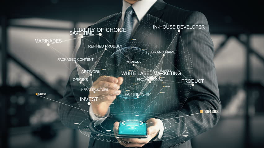 Businessman with White Label Marketing | Shutterstock HD Video #30351694
