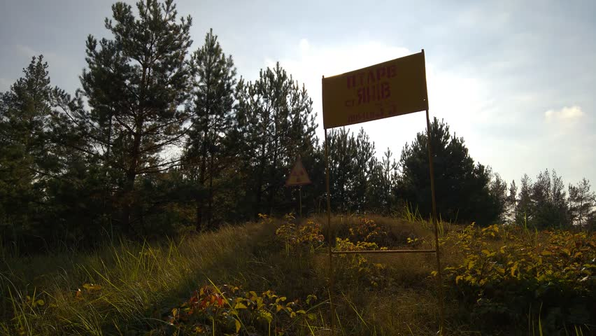 Red Forest Radioactive Sign, Chernobyl Exclusion Zone, Ukraine | Shutterstock HD Video #30355579