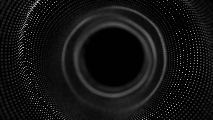 60fps looped seamless abstract black and white mask background. Smooth motion of hi-tech dots. For logo and title placement, event, concert,presentation,site,VJ,Resolume.