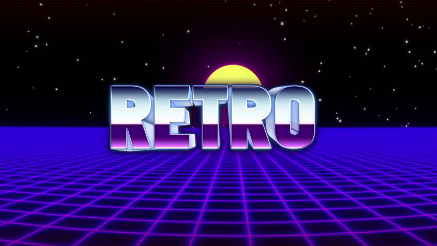 Retro Text with Retrofuturistic Synthwave Stock Footage Video (100%  Royalty-free) 30412789   Shutterstock