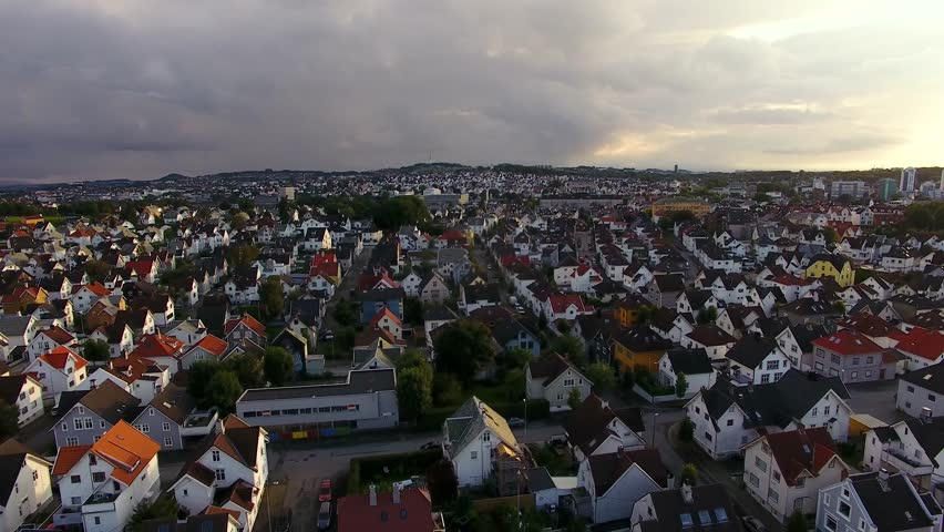 Aerial view of the Saint Johannes Church in Stavanger, Norway #30415669