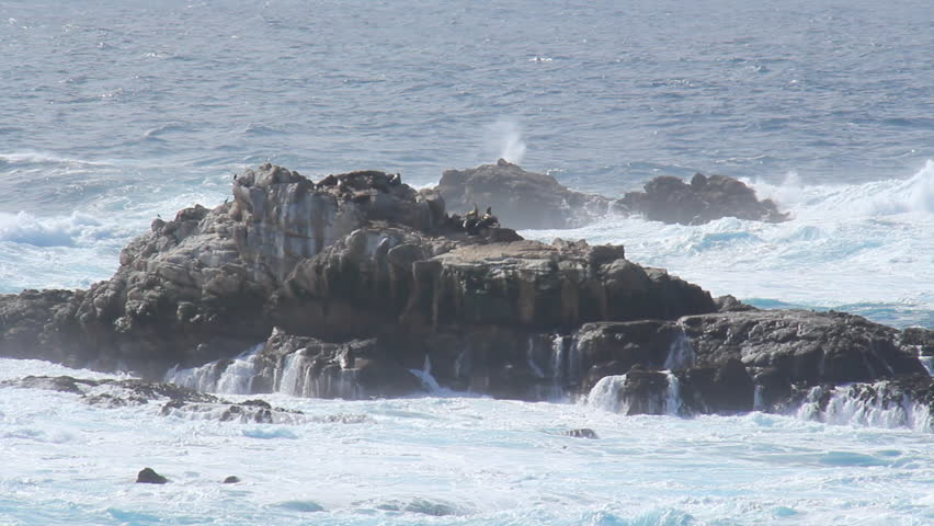 Big Sur 4. Coastal Big Sur, California on a beautiful afternoon. Zoomed in a