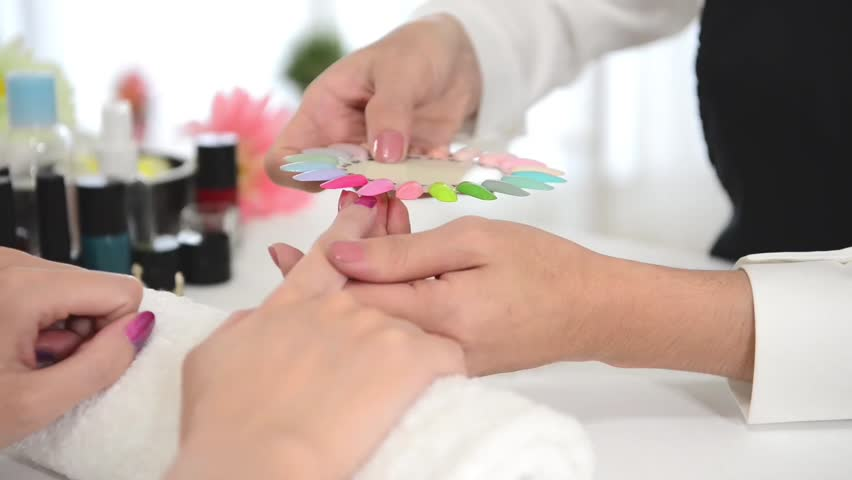 Beauty Asian Chinese Manicurist Showing Stock Footage Video (100 ...