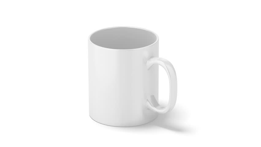 Blank white reactive mug mock up, filling up with hot boiling water, 3d rendering.  | Shutterstock HD Video #30538579