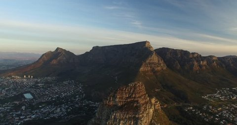 Cape Town Lion's Head Aerial View Revealing Table Mountain and Clifton