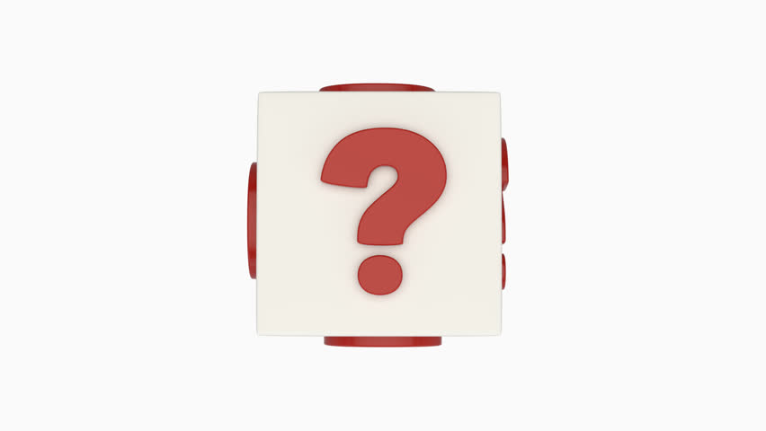 Question mark cube. Loop ready animation of rotating cube covered with question marks. | Shutterstock HD Video #30543028