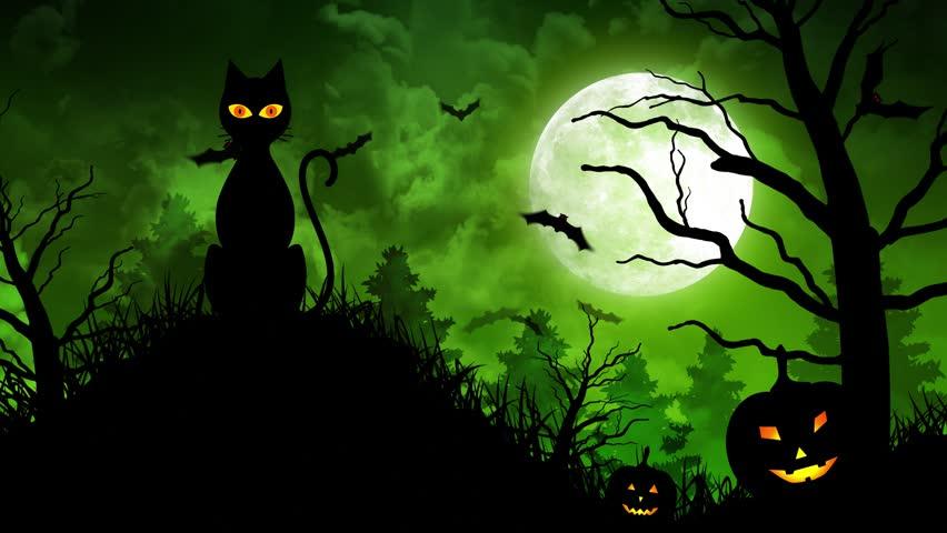 Halloween Spooky Tree Silhouette