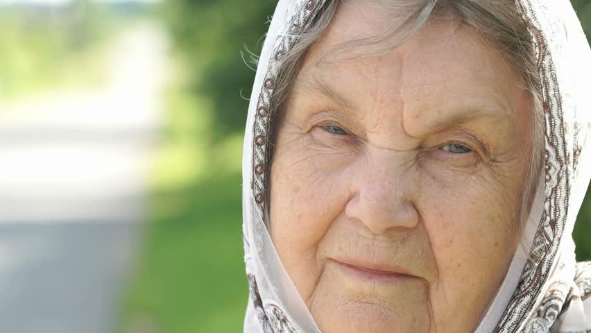 Elderly, Old, Mature Man Close Up Portrait Raw Video -8698