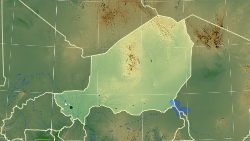 Zoomedin View Of A Niger Outline With Perspective Lines Against A